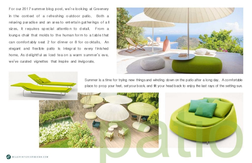 Refreshing Summer Patio - Greenery