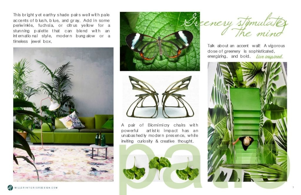Pairing Greenery with Jewel Tones and Biomimicry