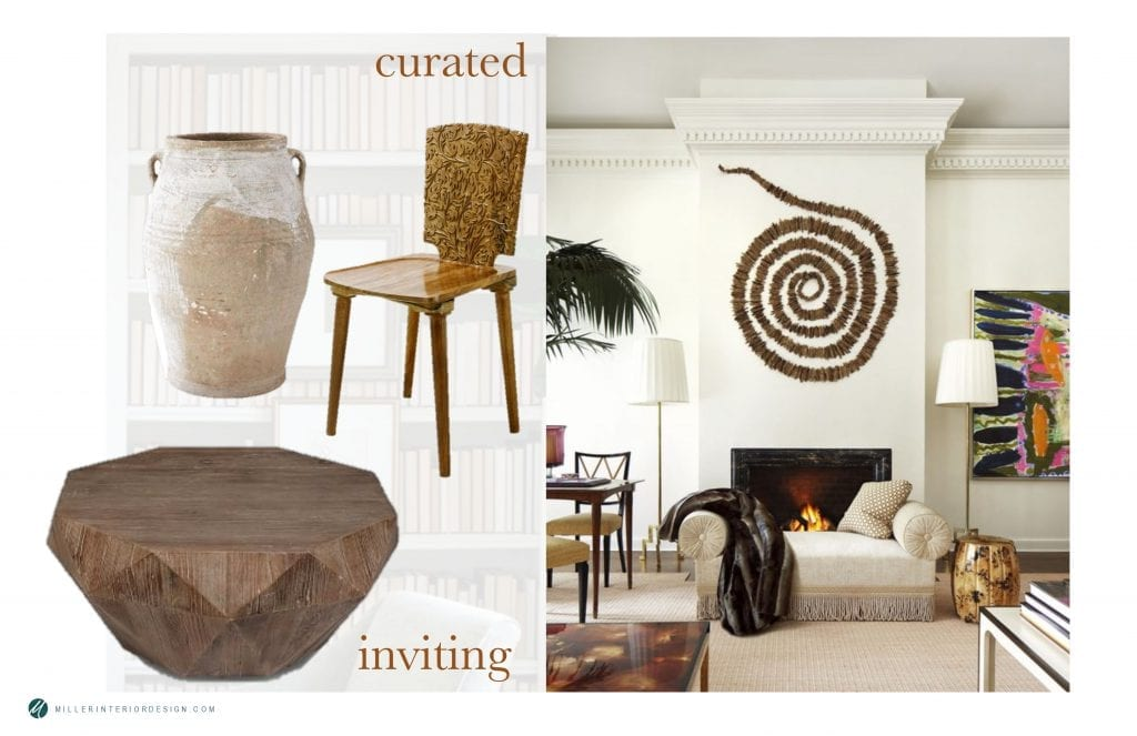 Winter interior design trends. Curated elements.