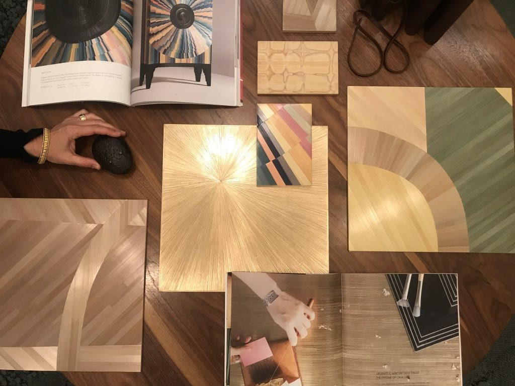 Alexander Lamont Straw Marquetry with Miller Interior Design
