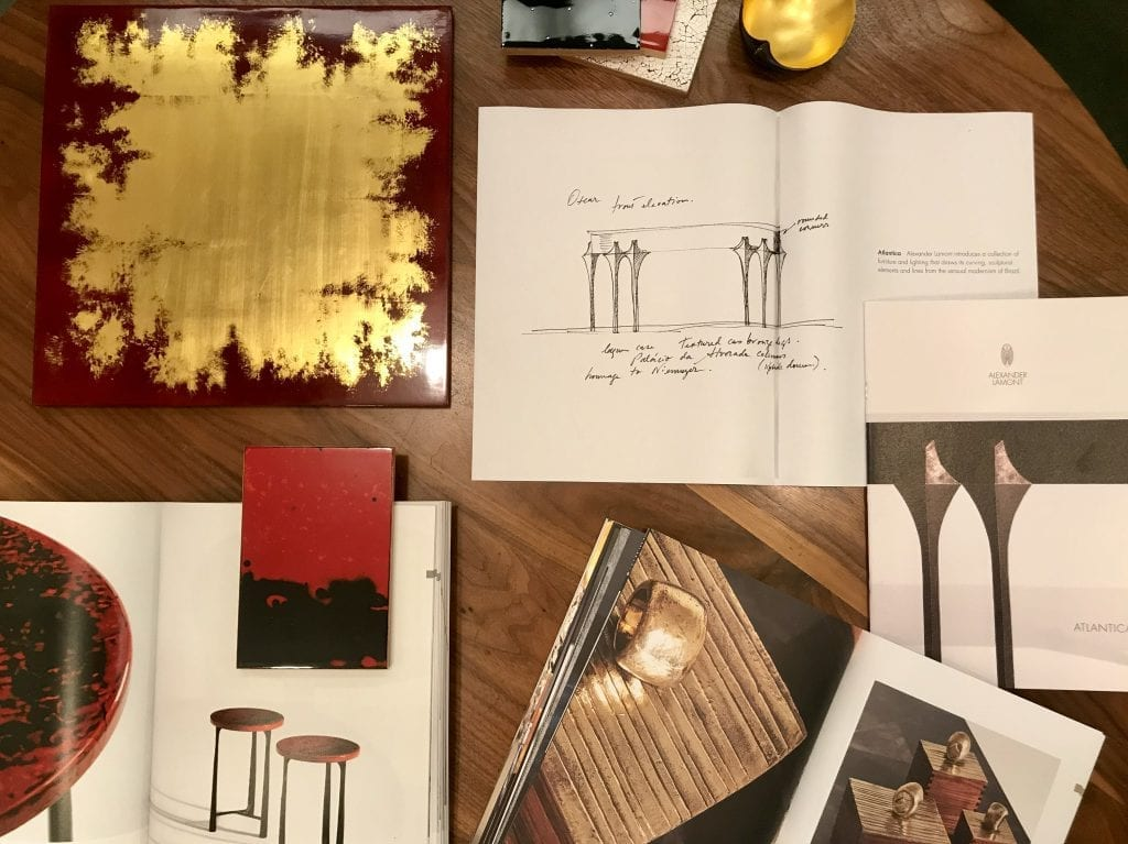 Alexander Lamont's works on table