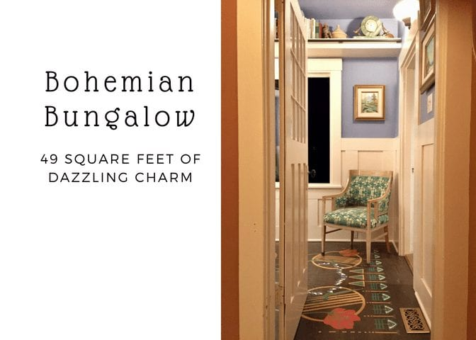 Bohemian Bungalow: 49 Square Feet of Dazzling Charm