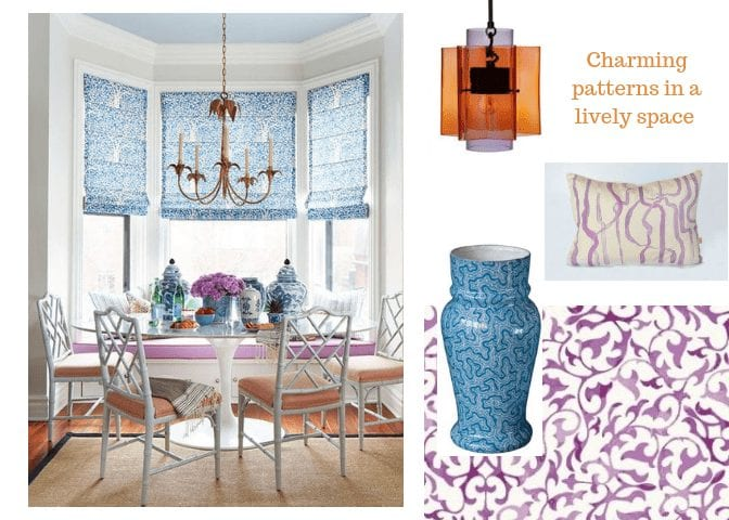 interior design trends 2018, charming patterns in a lively space