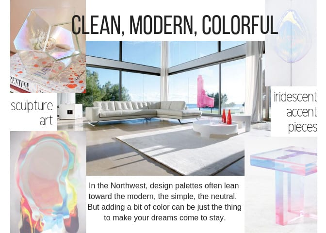 clean, modern, colorful design scheme