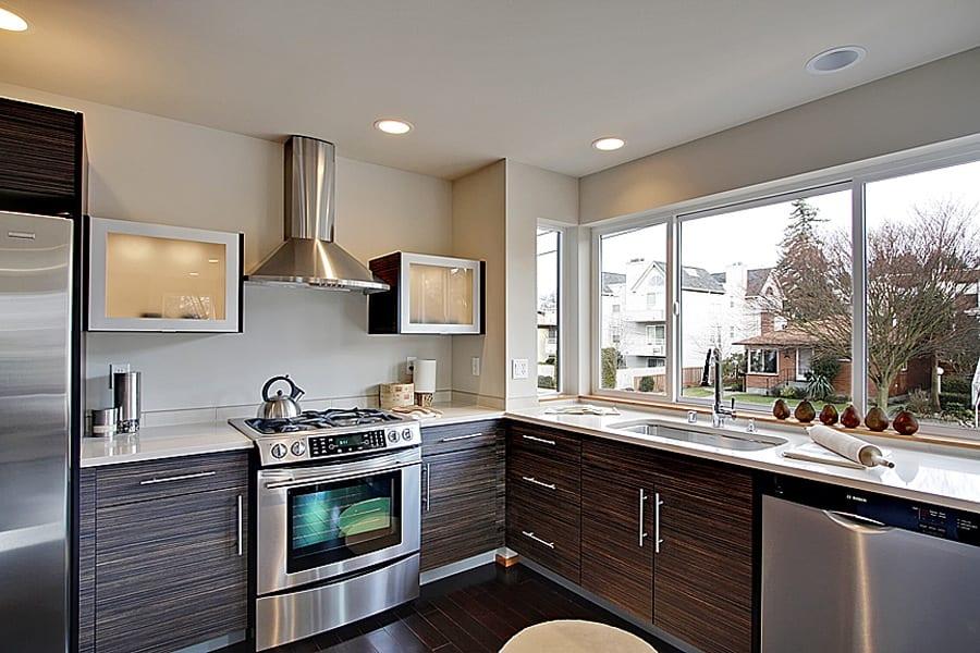 Alki Beach Homes by Miller Interior Design - contemporary kitchen
