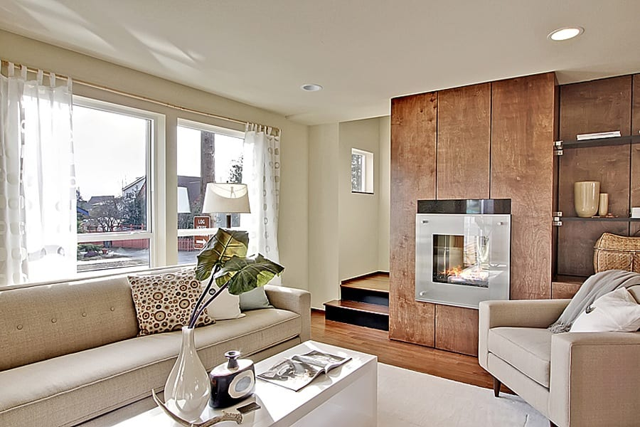 Alki Beach Townhomes by Miller Interior Design - contemporary livingroom