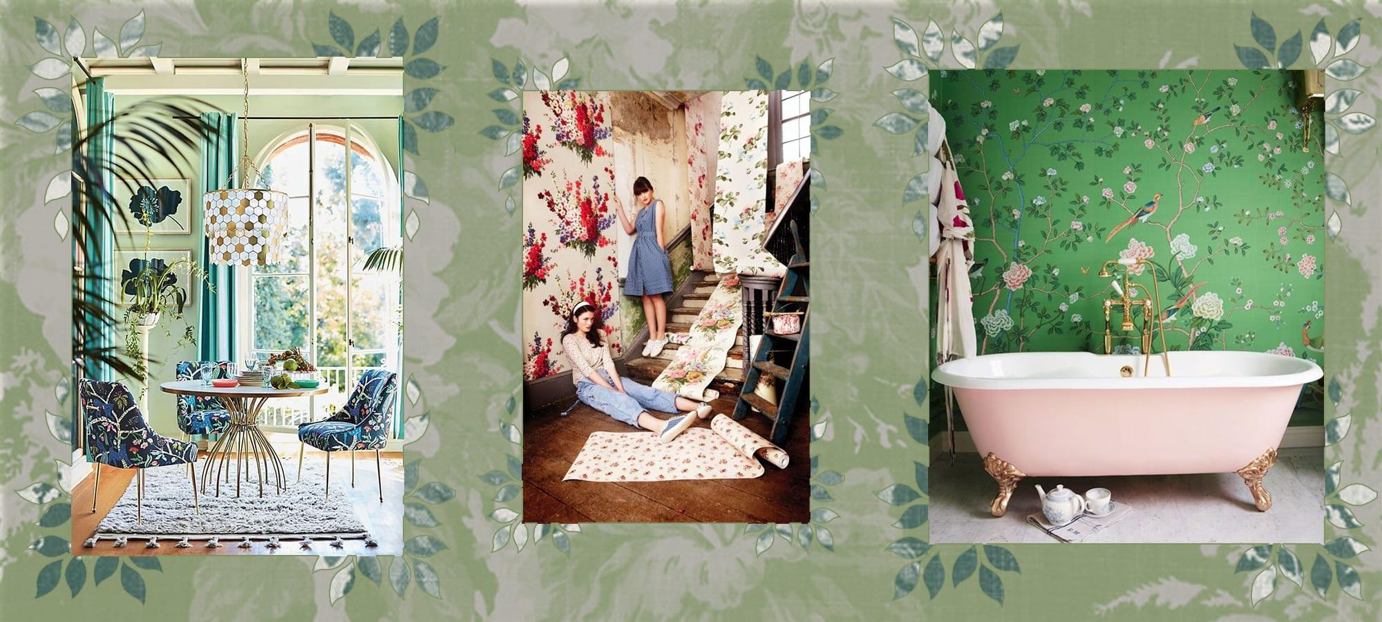 Floral Patterns in Interior Design
