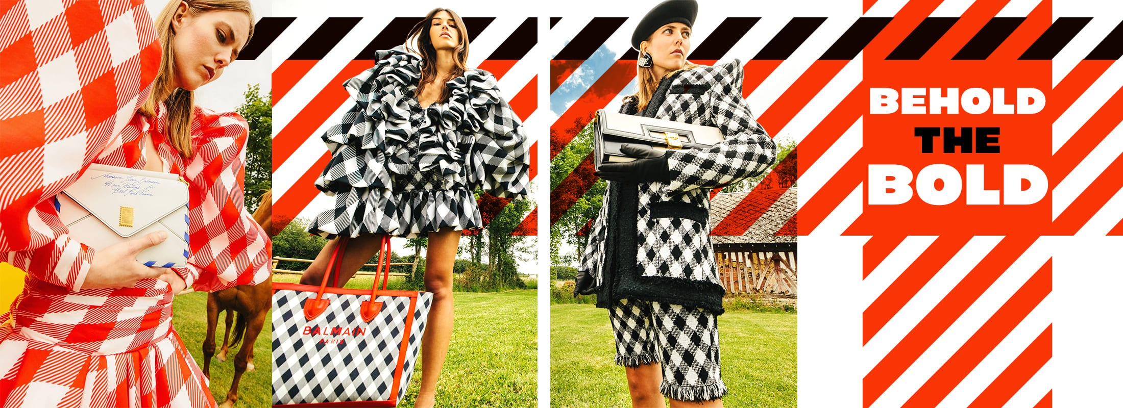 Bold 90's stripes and broad plaids in fashion design bring thematic options for fresh interiors.