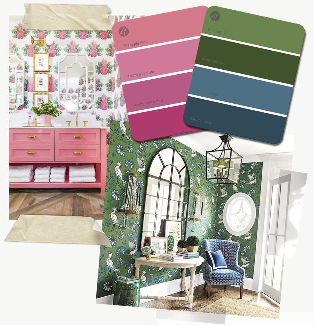Eclectic color palette