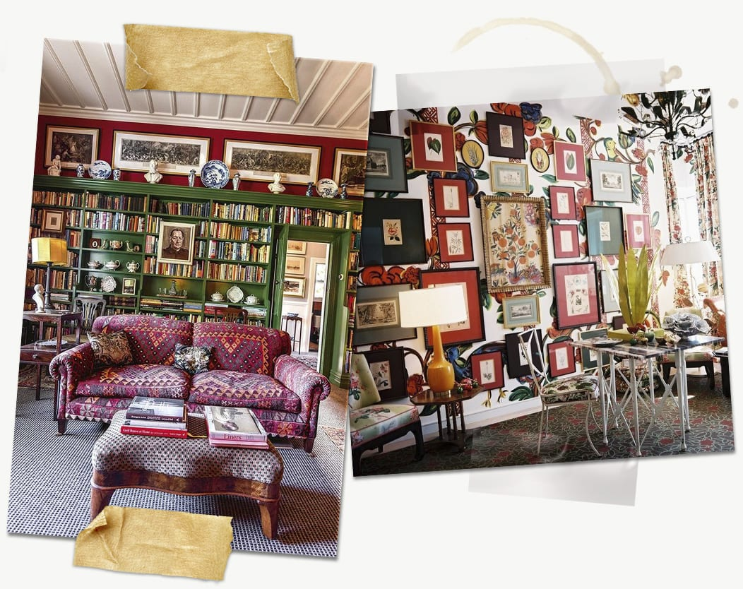 Eclectic Interior Design Gallery Wall